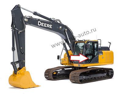 Стекло дверное нижнее левое  экскаватор John Deere 210 GLC-360 GLC, John Deere 210 DLC-360 DLC