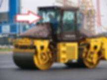 Стекло лобовое дорожный каток DD 95-1