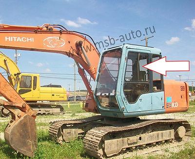 Cтекло дверное левое верхнее заднее Экскаватор гусеничный Hitachi EX100,120,200,300-3 серия