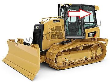 Cтекло кузовное заднее левое верхнее  форточка подвижная бульдозер Catepillar D5K XL, Catepillar D6K