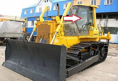 Стекло дверное левое бульдозер  Komatsu D65E-12 .