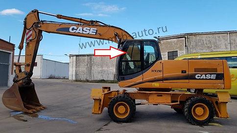 Стекло дверное левое форточка экскаватор экскаваторов CASE WX 130,CASE WX 210,CASE WX 350, CASE WX 370, CASE WX 470, CASE WX 700 .