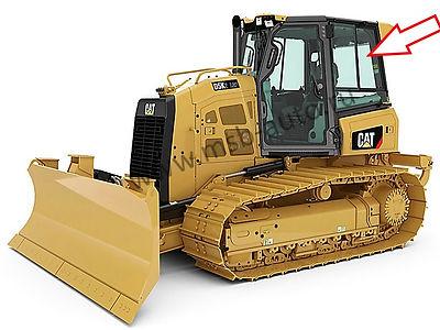 Стекло кузовное заднее левое верхнее форточка подвижная на бульдозер CATEPILLARD5K XL / CATEPILLAR D6K