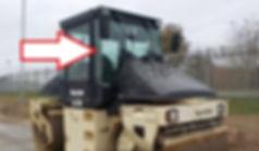 Стекло лобовое правое дорожный каток DD 95-1