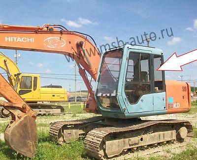 Cтекло кузовное заднее левое Экскаватор гусеничный Hitachi EX100,120,200,300-3 серия
