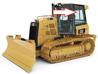 Стекло кузовное заднее левое верхнее глухое на бульдозер CATEPILLARD5K XL / CATEPILLAR D6K
