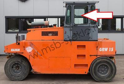 Стекло дверное левое HAMM GRW-15