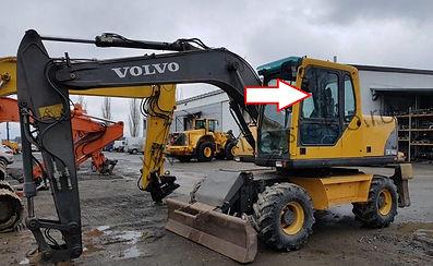 Стекло дверное верхнее переднее левое экскаватор Volvo EW 140 b, 145 b, 160 b, 180 b, EC 180 Blc, 210 Blc, 240 Blc, 290 Blc, 460 Blc, 2003 .