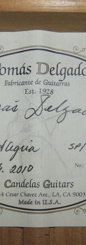 Tomas Delgado Flamenco Alegria #377 Labe