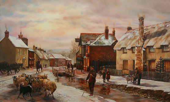 A WINTER'S EVENING, OTTERTON (framed)