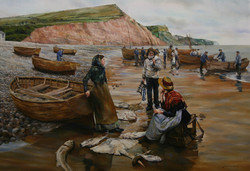 A FISH SALE ON SIDMOUTH BEACH
