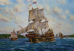 MAYFLOWER SETS SAIL FROM PLYMOUTH 001
