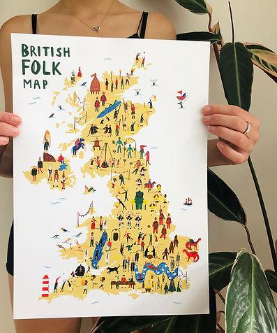 British Folk Map