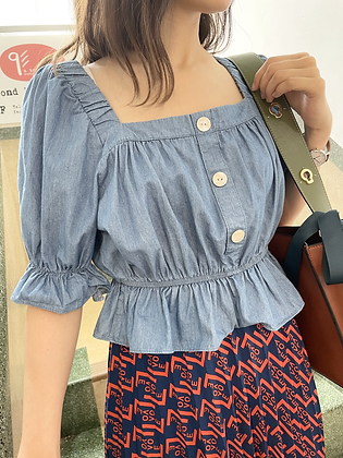 #24357 denim top