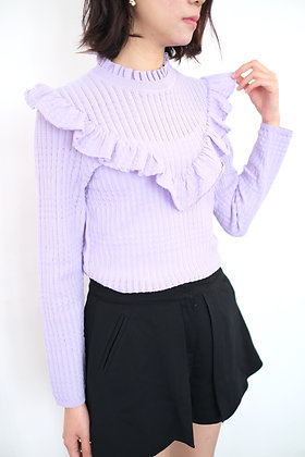 #40306 purple knit top