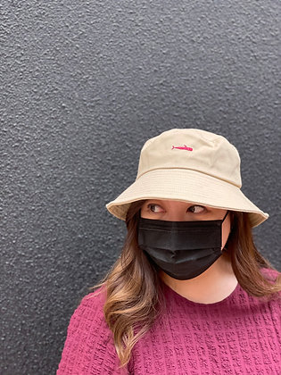 red whale bucket hat
