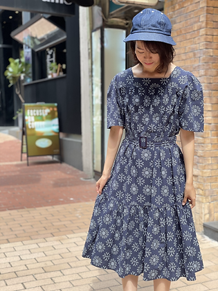 #24785 navy floral embroidered op