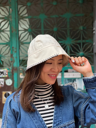 wt knitted bucket hat