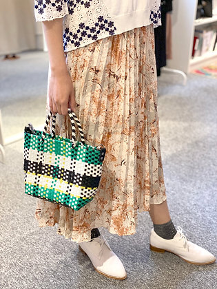 #24280 gn/yw/wh straw bag