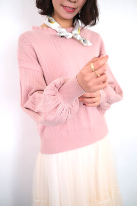 pink lace sweater #23858