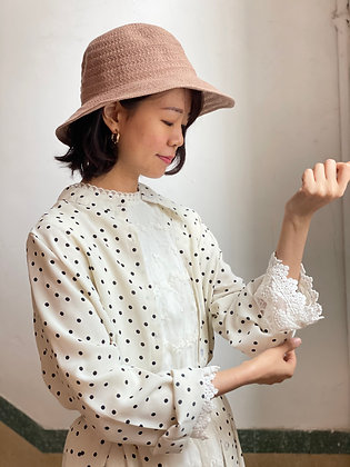 #24126 bounce bk/wh dotted shirt op