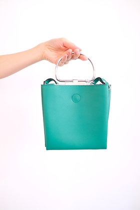 zara green bag #19279