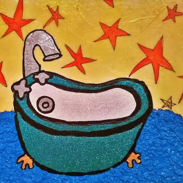 Angel Green Tub Blue Rug $105