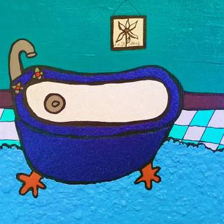 Royal Blue Glitter Tub