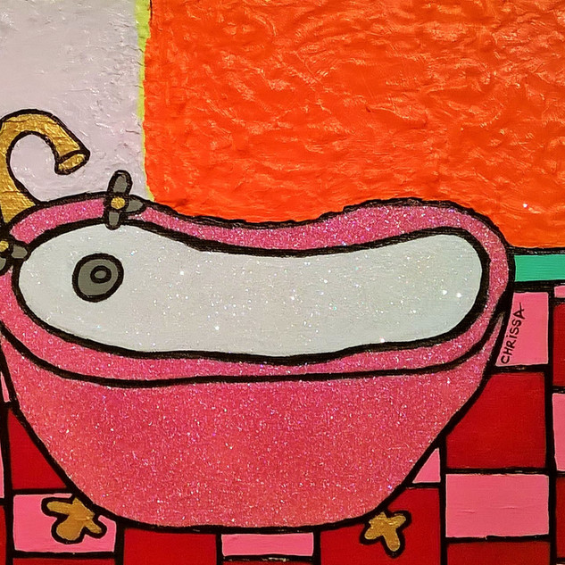 Pink Glitter Tub in the Orange and Red B