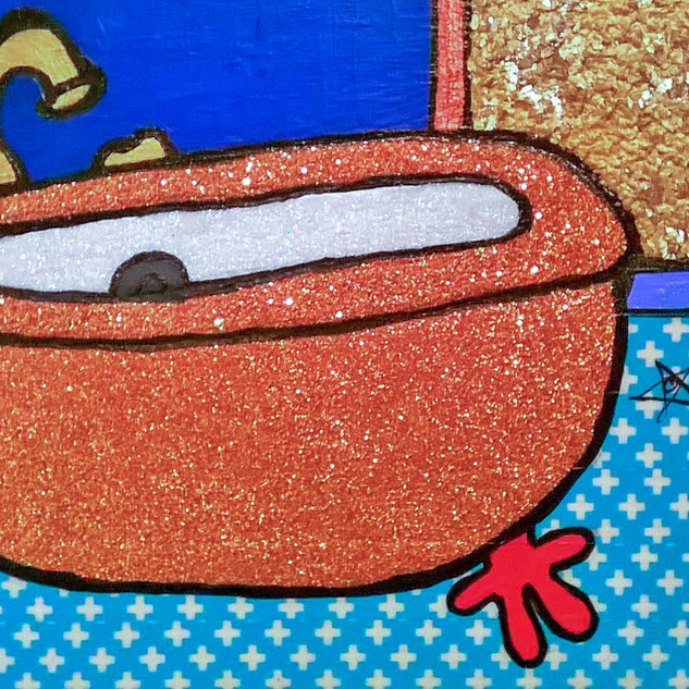 Copper Tub Gold Nugget Wall $65