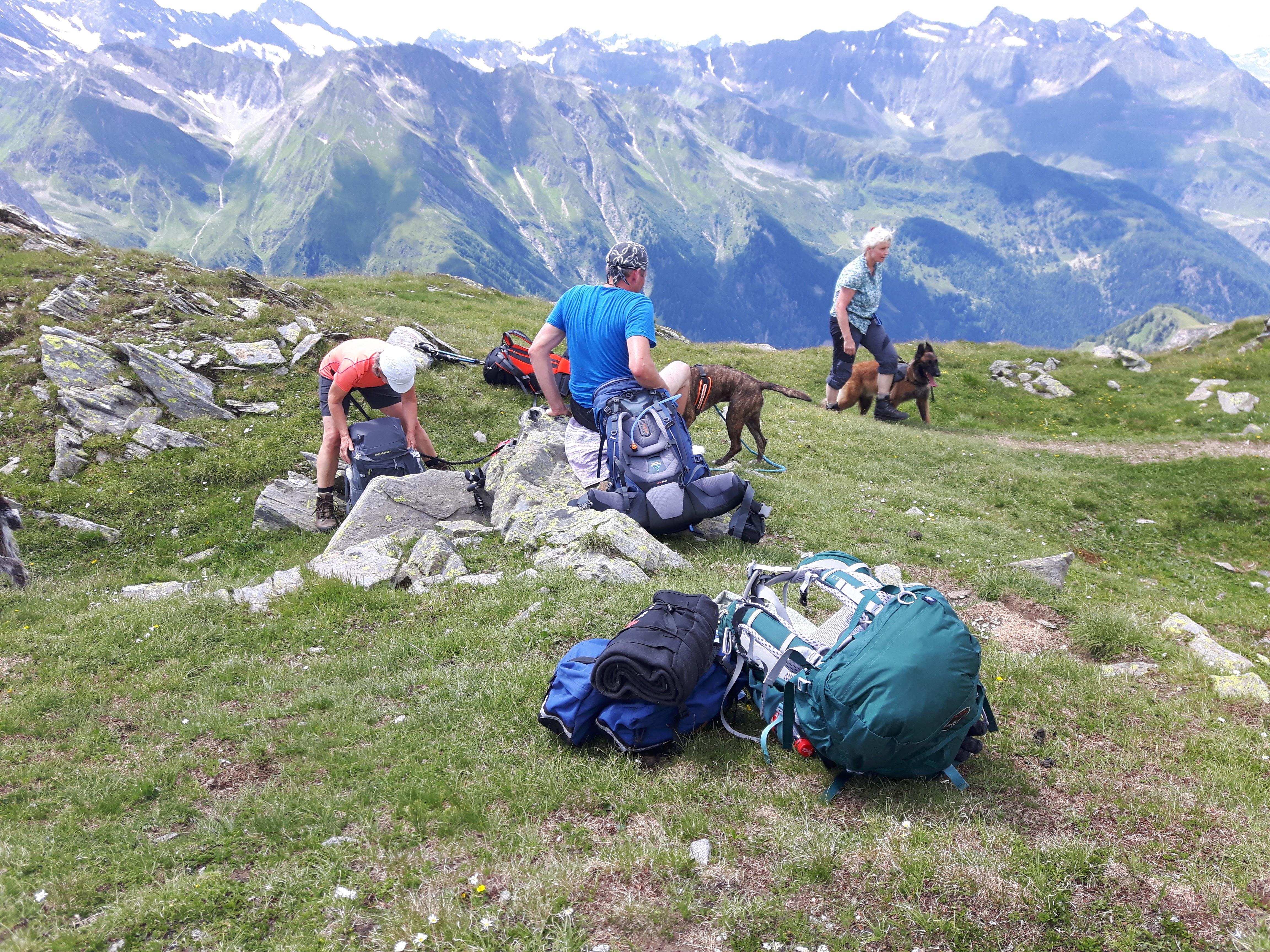 Auf der Alpenüberquerung Pause