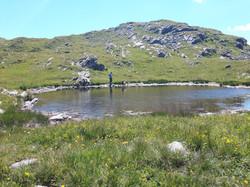 Alpenüberquerung Bergsee