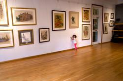 Kinaya admiring the art!
