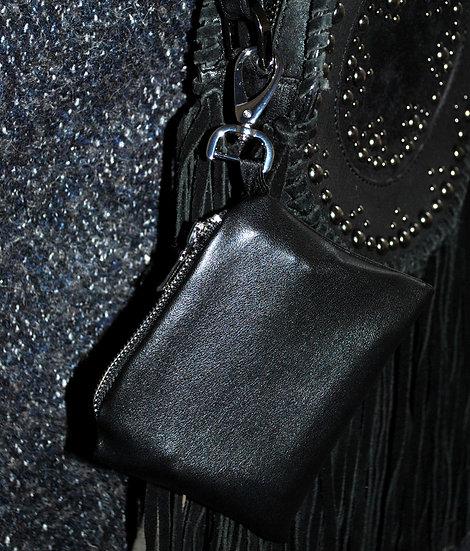 Pochette Simili-cuir (Noire & Argentée)