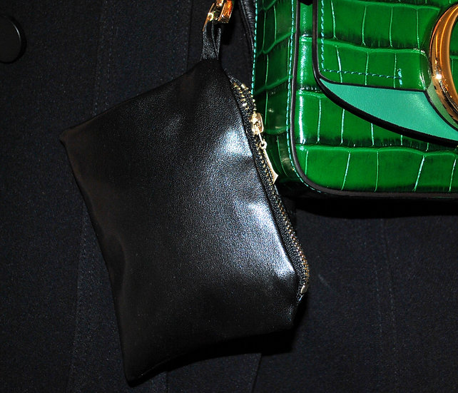 Pochette Simili-cuir (Noire & Dorée)