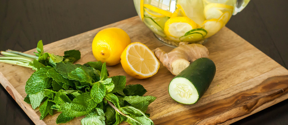 Lemon Ginger Cucumber Water