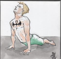 Heroic yoga watercolor series