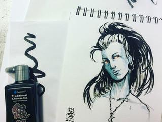 Trying out Yasutomo metallic ink