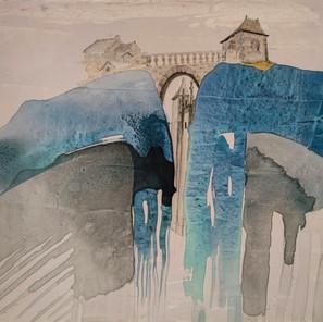 Chinoiserie médiévale (46x55 cm)