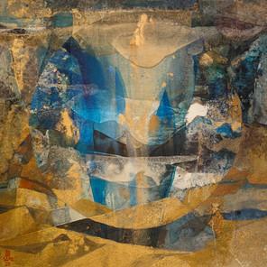 Par delà le miroir (80x80 cm)