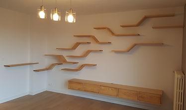 Meuble bois massif - Etagères - meuble TV