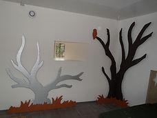 Meuble bois massif bio - Décors salle réception bois massif