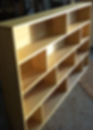 Meuble bois massif  - Bibliothèque frêne