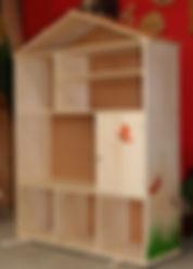 Meuble bois massif bio - Bibliothèque maison enfant
