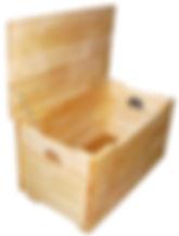 Meuble bois massif bio - Coffre à jouet enfant