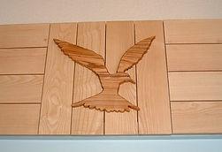 Meuble bois massif bio - Relooking Bar décoration oiseau
