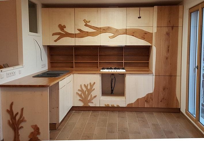 Arborethique meuble bois massif bio rennes bretagne for Meuble bois massif cuisine