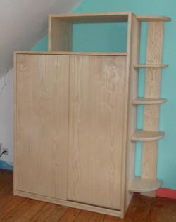 Meuble bois massif armoire étagères