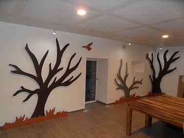Meuble bois massif bio - Décors salle de réception bois massif
