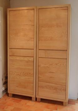 Meuble bois massif -  armoire frene